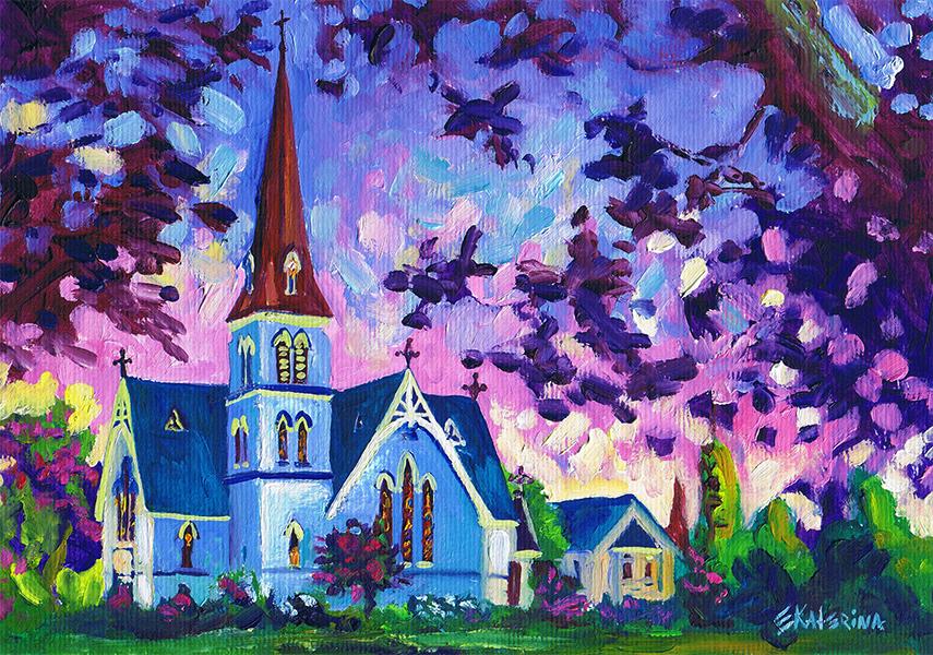 Church Painting 2 Ekaterina Chernova
