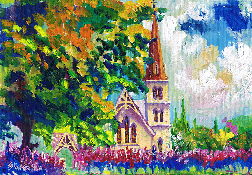 Church Painting 3 Ekaterina Chernova
