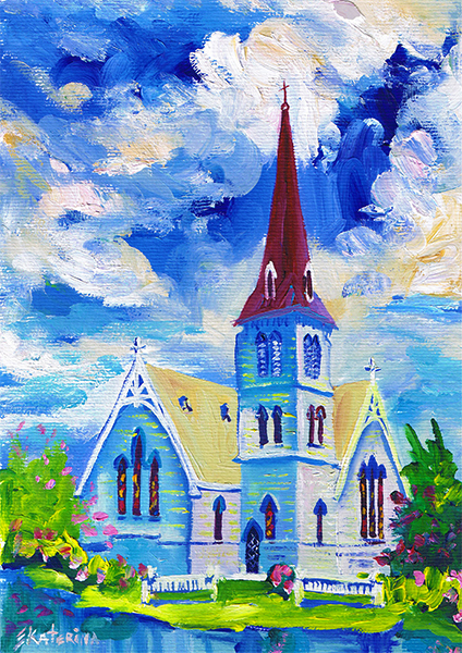 Church Painting Ekaterina Chernova