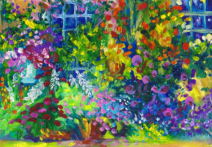 Cottage Garden Painting 2 Ekaterina Chernova