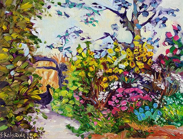 Garden scene by Ekaterina Chernova