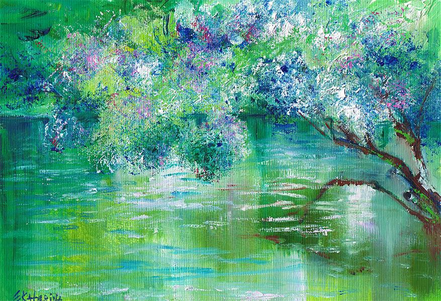 Green River Painting Ekaterina Chernova
