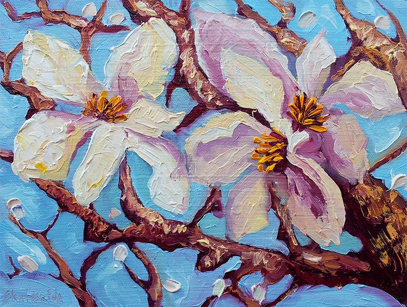 Magnlia6 Painting Artist Ekaterina Chernova