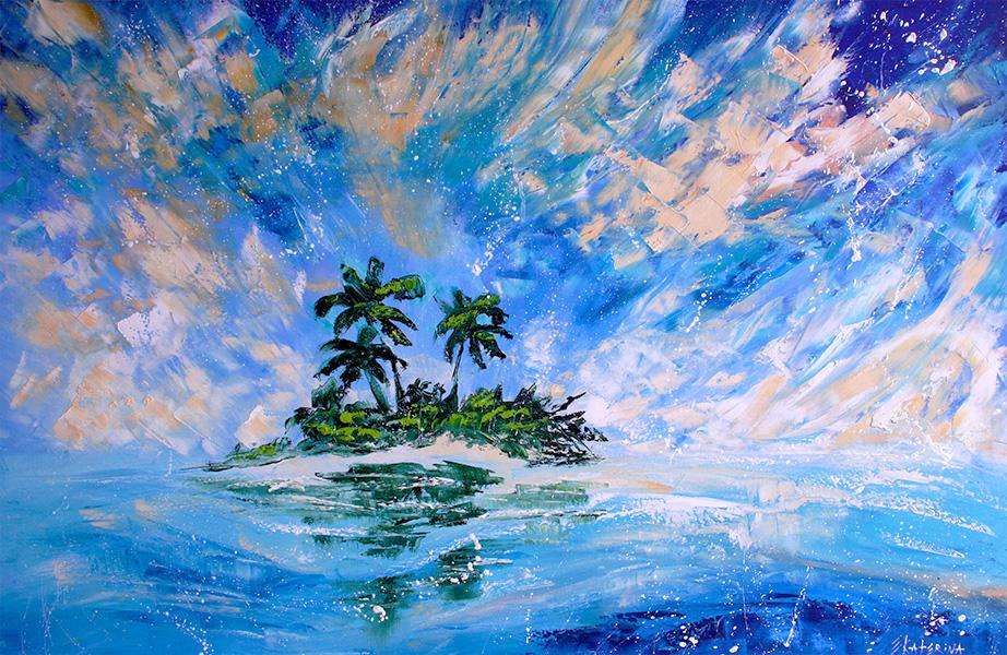 Mirage Island Painting Ekaterina Chernova