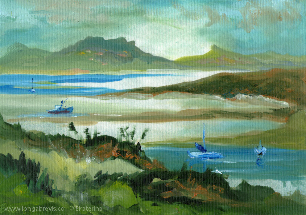 New Zealand landscape painting (2)