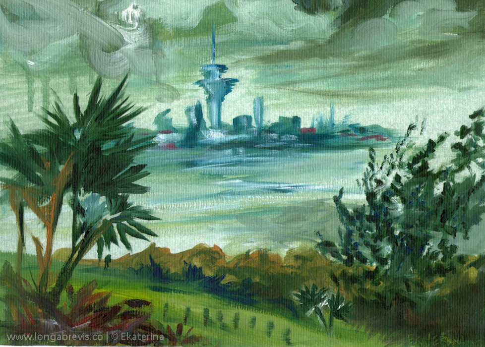 New Zealand landscape painting Auckland